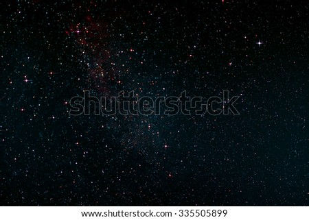 Nightsky over St. Peter-Ording in Germany - stock photo