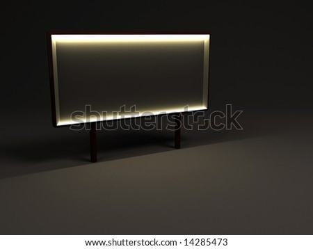 nighttime advertising billboard with blank space - stock photo