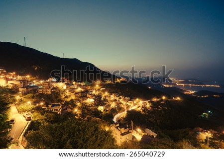 Nightview in Jiufen, Taiwan