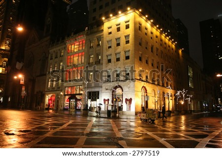 Nightview of Time Square at New York City - stock photo
