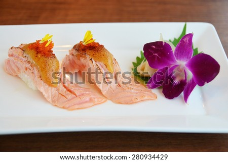 Nigiri Sushi - japanese food - stock photo