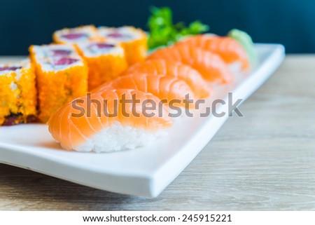 Nigiri Sushi roll - japanese food - stock photo