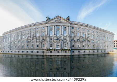 Nikolaiviertel is the reconstructed historical heart of the Berlin. It is located in Mitte. - stock photo
