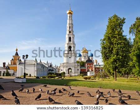 Nikolo-Ugreshsky Monastery  is  Russian Orthodox monastery of St. Nicholas the Miracle-Worker located in a suburb of Moscow, Russia. - stock photo