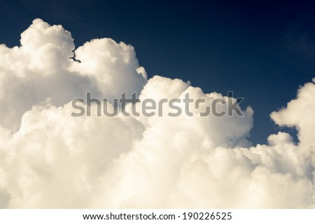 Nimbus in Cloudscape against blue sky / Nimbus in Cloudscape - stock photo