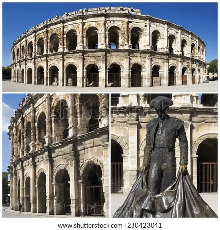 Nimes Amphitheatre - a Roman arena in the southern French