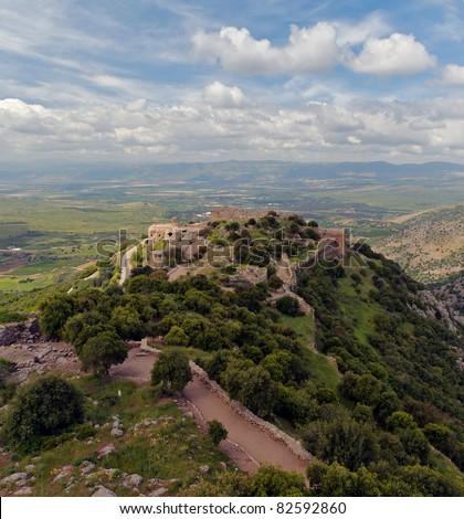 Nimrod fortress, Israel - stock photo