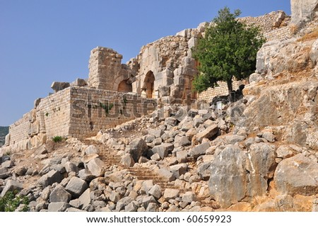 Nimrod fortress. North Israel. - stock photo