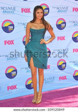 Nina Dobrev at the 2012 Teen Choice Awards at the Gibson Amphitheatre, Universal City. July 23, 2012  Los Angeles, CA Picture: Paul Smith / Featureflash