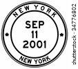 nine eleven new york post stamp - stock photo