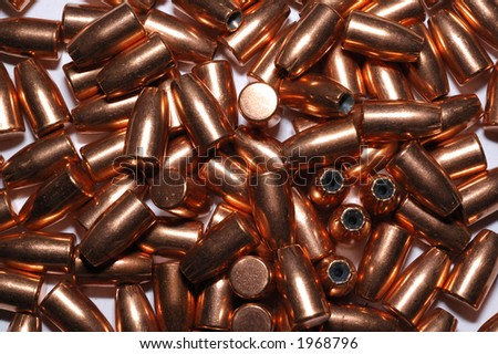 nine millimeter caliber bullets for a background