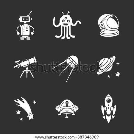 nine stylish space icons