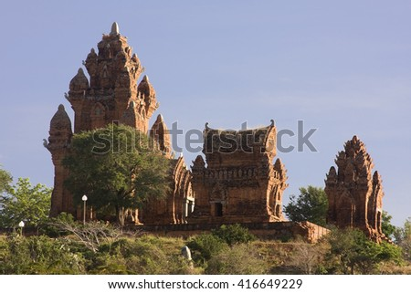 NINH THUAN, VIETNAM, May 22, 2016: Cham towers,Po Klong Garai, Ninh Thuan province, Vietnam