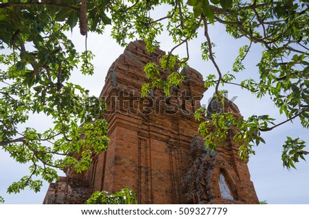 NINH THUAN-VIETNAM. SEP 01, 2016. Po Klong Garai temple - a typical construction of champa architecture, it is located on a hill of Bac Ai, Ninh Thuan, Vietnam.