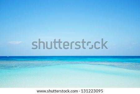 Nishihama beach in Hateruma-jima, Okinawa - stock photo