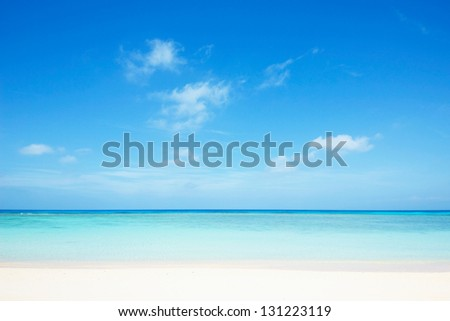 Nishihama beach in Hateruma-jima, Okinawa - stock photo