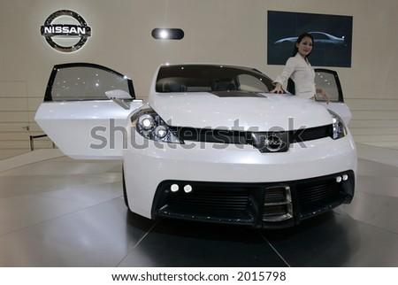Nissan concept car. - stock photo