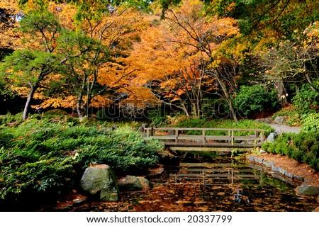 Nitobe Memorial Garden, UBC, Vancouver - stock photo