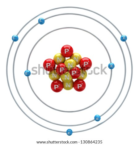 Nitrogen Atom Model Proton Stock Photos, I...