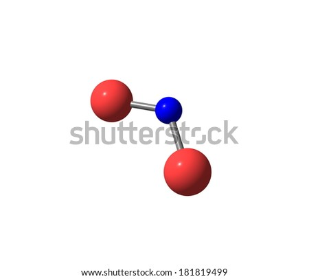 Nitrogen dioxide is the chemical compound with the formula NO2. It is one of several nitrogen oxides. NO2 is an intermediate in the industrial synthesis of nitric acid.