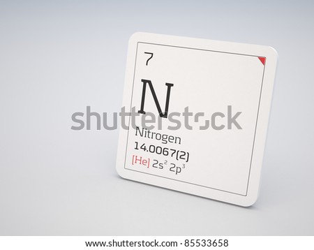 Nitrogen - element of the periodic table - stock photo