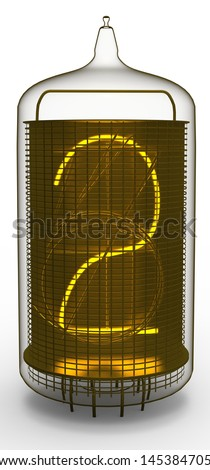nixie tube indicator 2 - stock photo