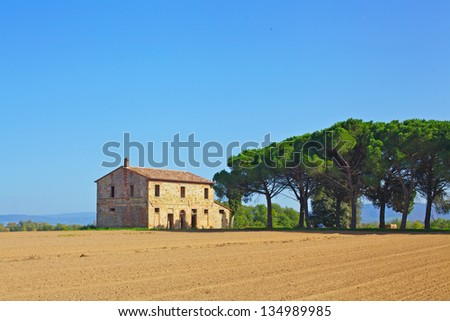 nj tcnmScenic view of typical Tuscany landscape - stock photo