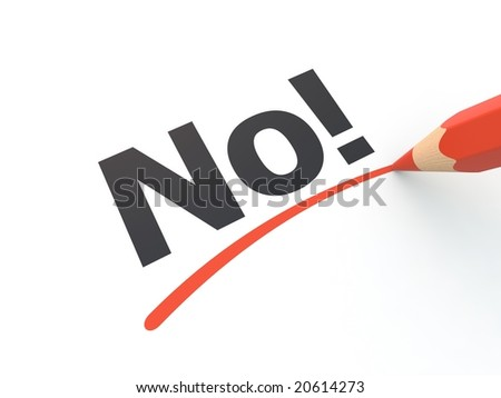 No! - stock photo