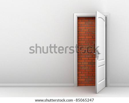 no access abstract door concept - stock photo
