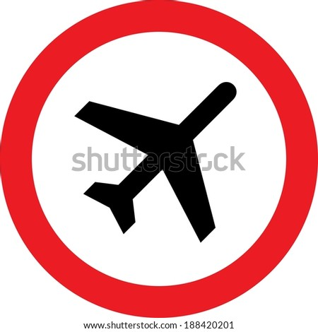 No airplane allowed sign