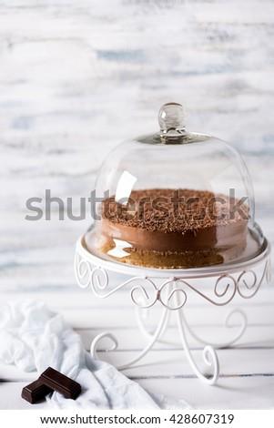 No bake chocolate cheese cake - stock photo