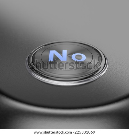 No button with blur effect. Render image for business and motivation concepts.