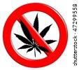 No cannabis - stock vector