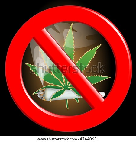 No cannabis - stock photo