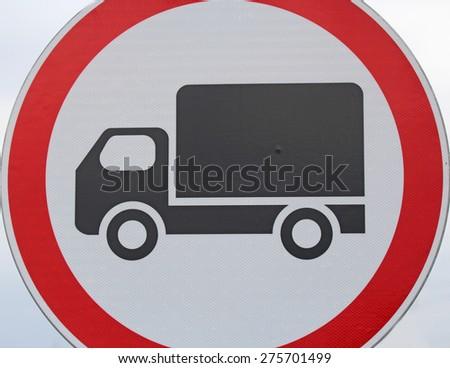 No cargo vehicles sign close up - stock photo