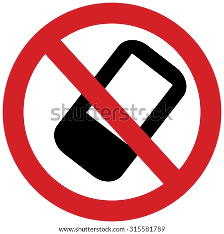 no cell phone sign, no talking, do not disturb