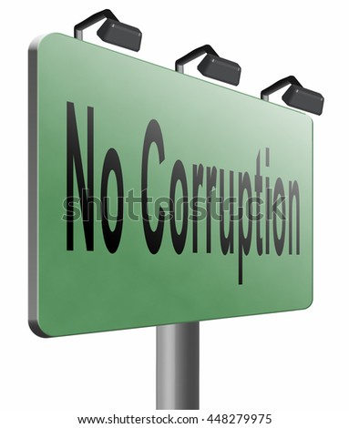 no corruption fraud and bribery political or police can be corrupt, 3D illustration, isolated, on white - stock photo