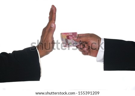 No corruption or fee concept  - stock photo