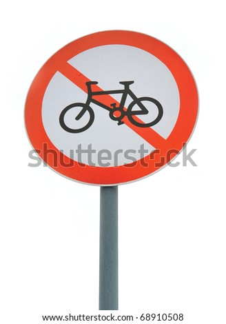No cycling sign
