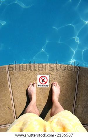 No Diving - stock photo
