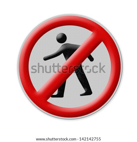 no entrance Zone sign , Part of a series. - stock photo