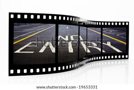 No Entry Film Strip - stock photo