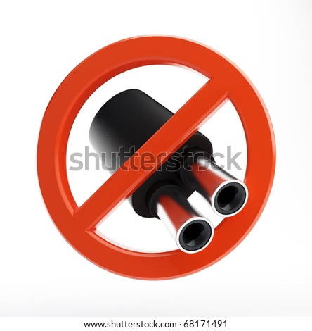 no exhaust pipe on a white background - stock photo