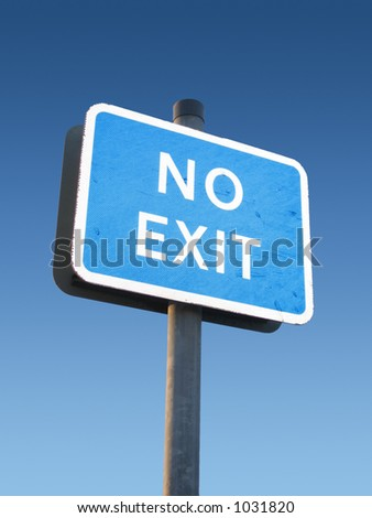 No exit sign - stock photo