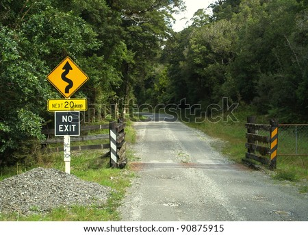 No exit sign, New Zealand