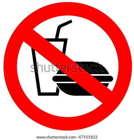 No fast food sign - stock photo