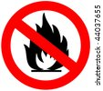 No fire sign - stock photo