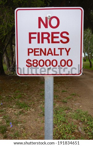 No Fires Sign - stock photo