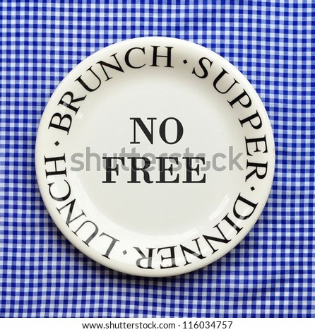 No Free Lunch Brunch Supper Dinner Stock Photo (Royalty Free) 116034757 - Shutterstock  sc 1 st  Shutterstock & No Free Lunch Brunch Supper Dinner Stock Photo (Royalty Free ...