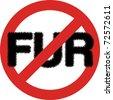No fur sign in JPG - stock photo